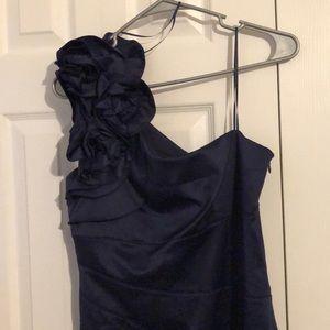 Jessica Simpson -  Satin Navy Blue Dress